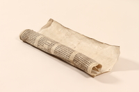 2002.430.1 front Torah scroll fragment from Poland  Click to enlarge