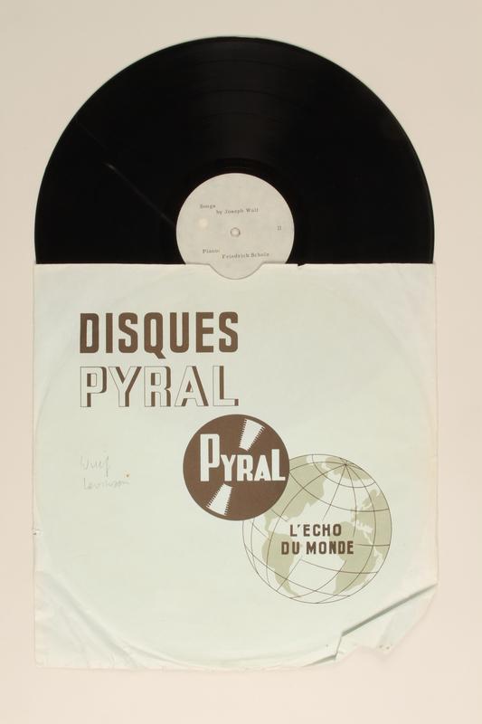 2002.190.1 complete Joseph Wulf phonograph records