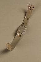2002.270.2 bottom open Wrist watch with a gray plastic band  Click to enlarge