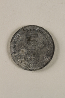 2000.488.1 back Lodz (Litzmannstadt) ghetto scrip, 5 mark coin  Click to enlarge