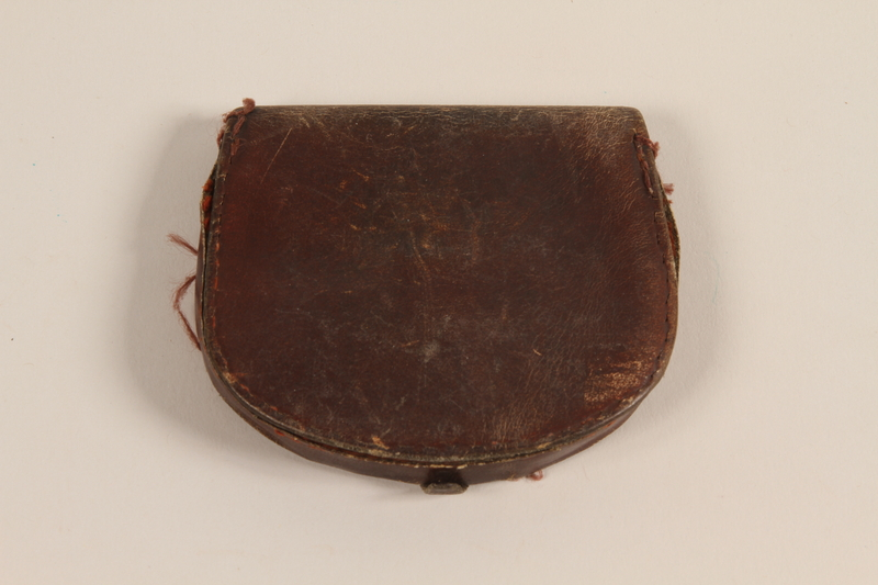 1999.279.3 front Leather change purse