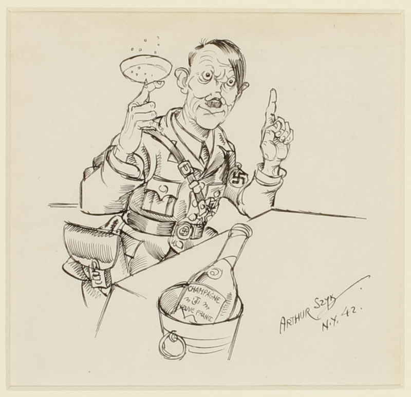 CM_1995.40.4 front Arthur Szyk drawing