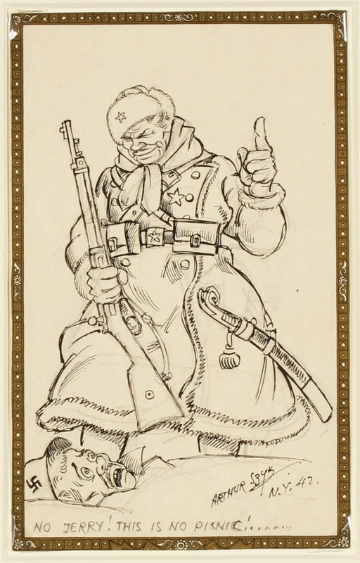CM_1995.40.6 front Arthur Szyk drawing