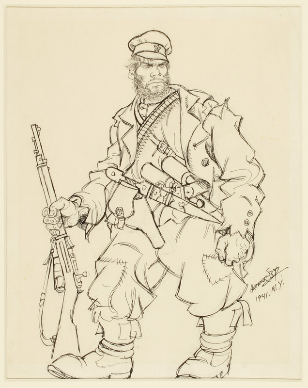 CM_1995.40.7 front Arthur Szyk drawing