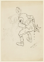 CM_1995.40.23 front Arthur Szyk drawing  Click to enlarge