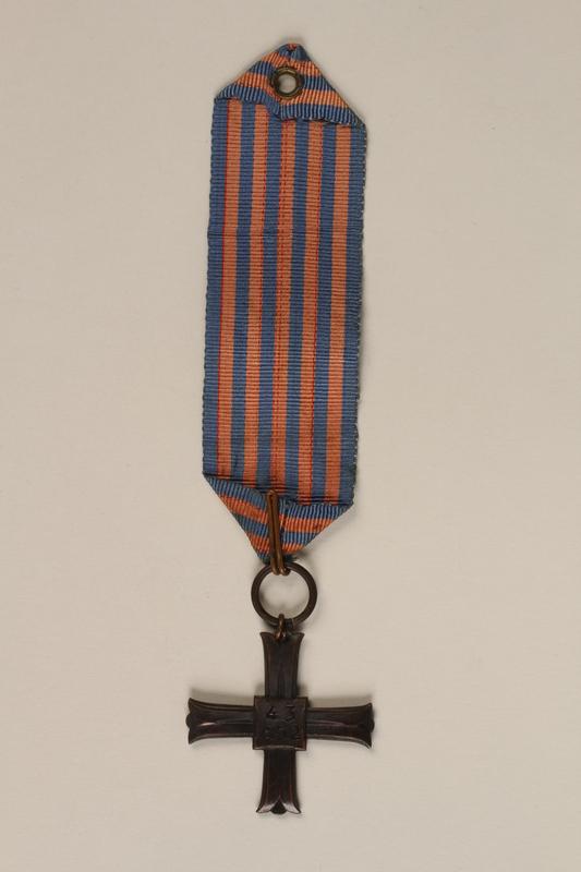 2000.226.2 back Monte Cassino Commemorative Cross