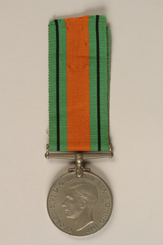 2000.226.3 front Defence Medal issued for service in the British Army during World War II