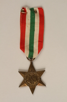 2000.226.4 front Italy Star medal  Click to enlarge
