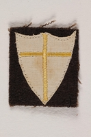 2000.226.8 front British 8th Army sleeve badge worn by a Jewish soldier, 2nd Polish Corps  Click to enlarge