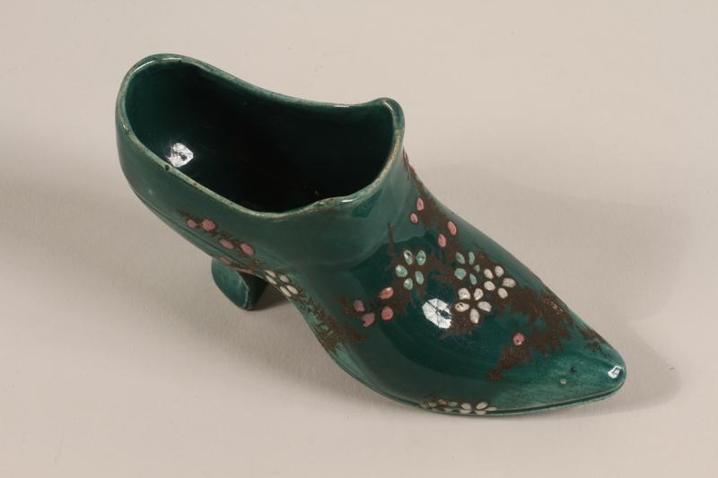 2001.326.3 front Toy ceramic shoe
