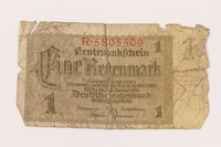 2000.500.1 front Germany, 1 [eine] rentenmark  Click to enlarge