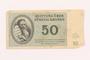 Theresienstadt ghetto-labor camp scrip, 50 kronen note