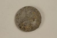 2002.429.1 front Łódź (Litzmannstadt) ghetto scrip, 5 mark coin  Click to enlarge