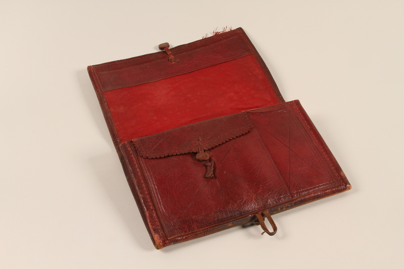 2002.438.9 open Purse carried by a Jewish woman who fled German occupied Belgrade with her family