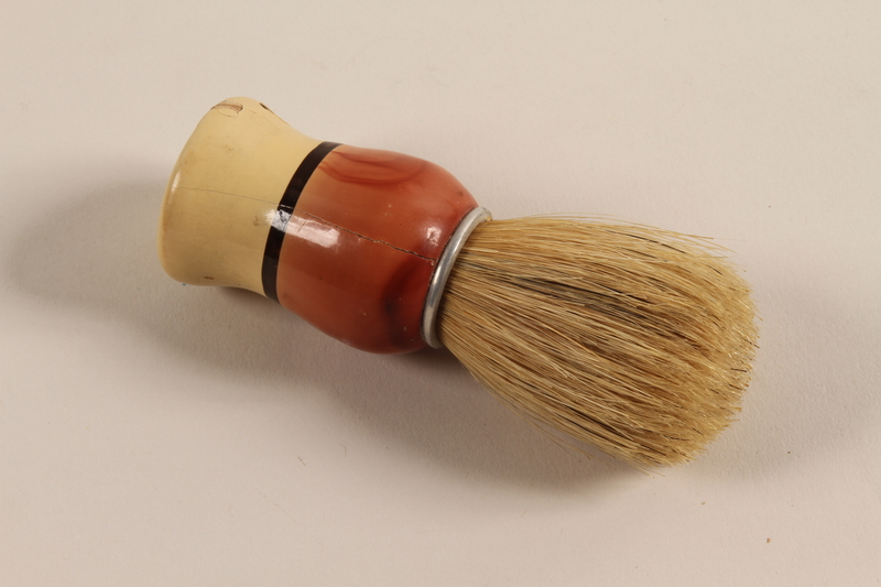 2005.256.1 front Shaving brush received in a concentration camp