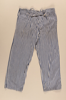2002.467.2 back Concentration camp uniform pants worn by a Romanian Jewish inmate at Buchenwald  Click to enlarge