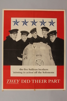 1988.42.32 front Recruitment poster with the 5 Sullivan brothers  Click to enlarge