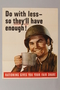 US poster depicting a smiling soldier holding a silver canteen cup