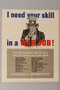 US poster depicting Uncle Sam and a list of military occupations