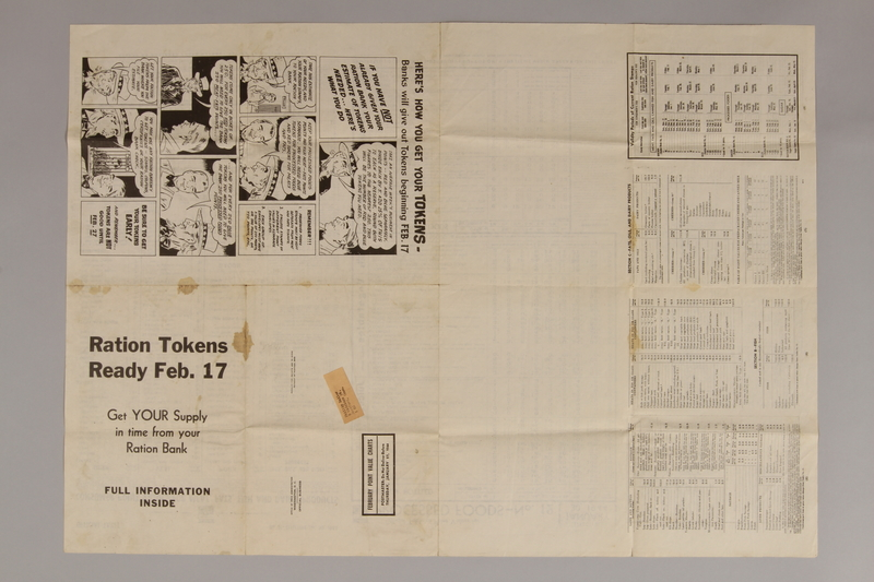 1988.42.58 front US ration point guide poster with tables for February 1944