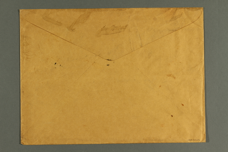 1988.42.60 a back Envelope with Treasury Department War Savings Staff label