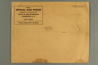 1988.42.60 b front Light brown paper envelope used for mailing war posters  Click to enlarge