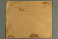 1988.42.60 b back Light brown paper envelope used for mailing war posters  Click to enlarge