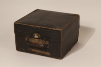 2003.352.1 b closed Hohner Imperial IIA accordion and case carried by a young Jewish girl on a Kindertransport  Click to enlarge