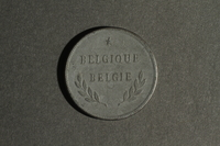 1988.106.1.1 front Belgium, 2 franc coin  Click to enlarge