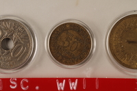1988.106.1.3 front France currency, 50 centimes coin  Click to enlarge