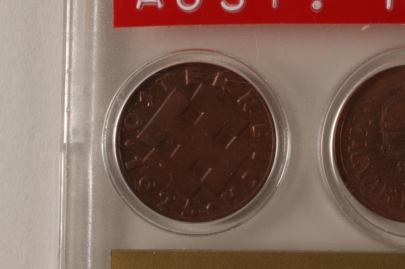 1988.106.1.7 front Austria currency, 2 groschen coin