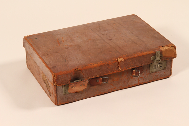 2002.478.1 front Suitcase used by a concentration camp prisoner