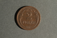 1988.106.1.8 back Hungary currency, 2 fillér coin  Click to enlarge