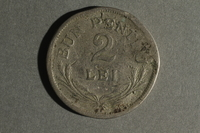 1988.106.1.11 back Romania currency, 2 lei coin  Click to enlarge