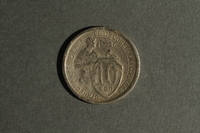 1988.106.1.15 back Soviet Union currency, 10 kopeks coin  Click to enlarge