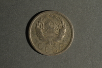 1988.106.1.14 front Soviet Union currency, 15 kopeks coin  Click to enlarge