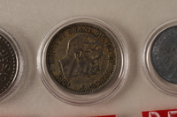 1988.106.1.19 front Luxembourg currency, 10 centimes coin  Click to enlarge