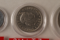 1988.106.1.21 front Switzerland currency, 20 rappen coin  Click to enlarge