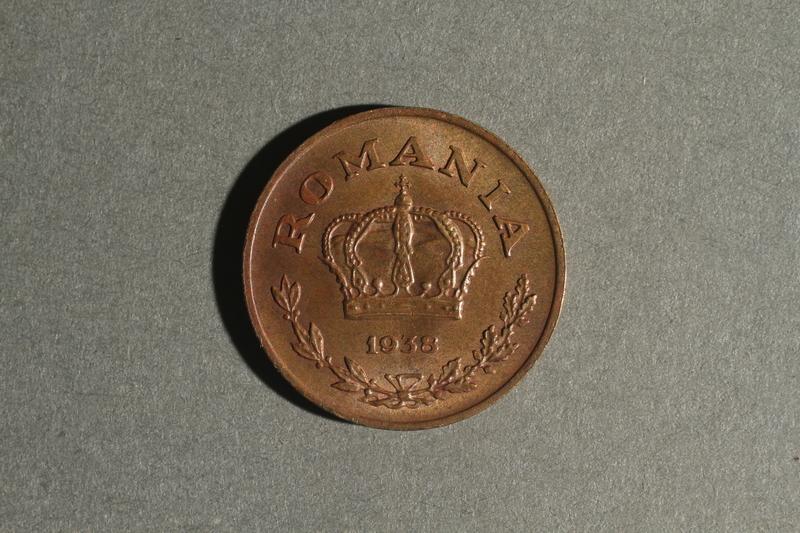 1988.106.1.25 front Romania currency, coin