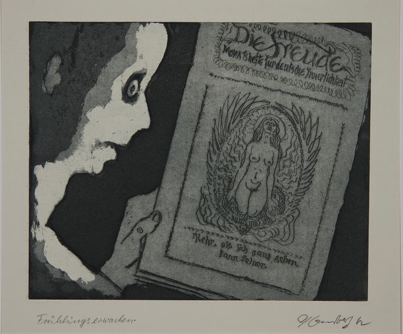 1988.12.9 front Plate 9, Herbert Sandberg, Der Weg: boy discovers artistic inspiration