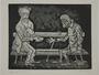 Plate 15, Herbert Sandberg series, Der Weg: portrait of the artist when young sharing his bread with a starving man
