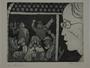 Plate 16, Herbert Sandberg series, Der Weg: young man looks with dismay at men drinking in a bar