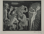 Plate 17, Herbert Sandberg series, Der Weg: young man makes a fool of himself in a bar