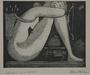 Plate 18, Herbert Sandberg series, Der Weg: sleeping nude goddess and a homeless man
