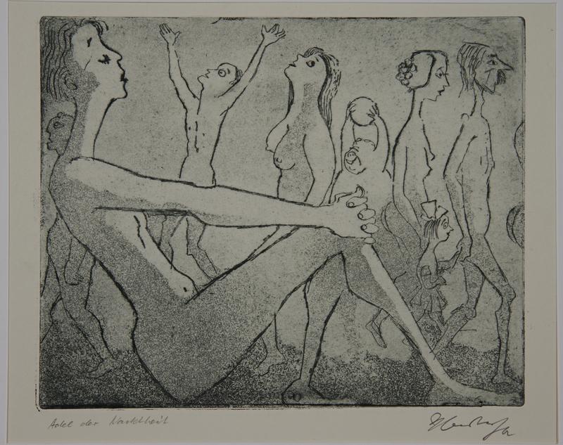 1988.12.19 front Plate 19, Herbert Sandberg series, Der Weg: a parade of nudes of different types