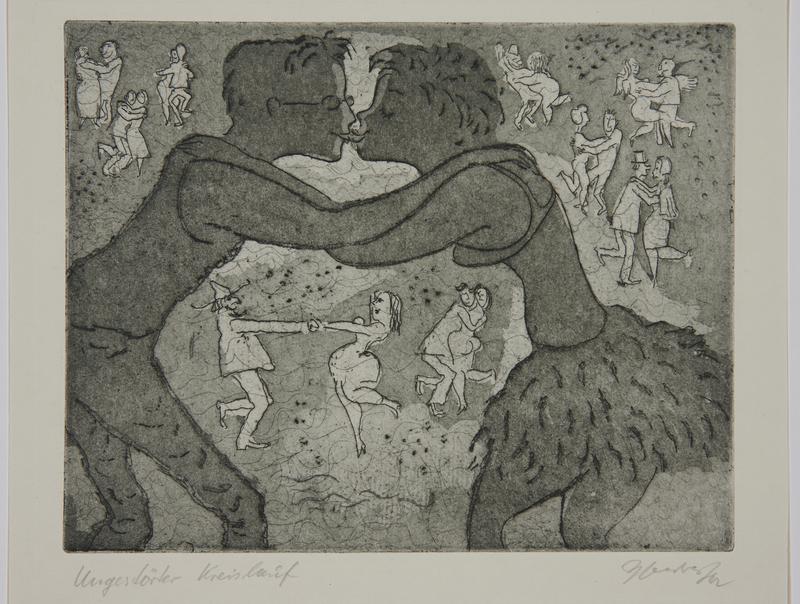 1988.12.20 front Plate 20, Herbert Sandberg series, Der Weg: young man and woman kissing