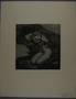 Drypoint etching by Lea Grundig of a bound naked prisoner on his knees