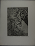 Drypoint etching by Lea Grundig of a people being pushed off a cliff