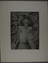 Drypoint etching by Lea Grundig of a man threatened by the hands of unseen people
