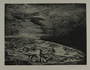 Drypoint etching by Lea Grundig of lifeless figures spread over the earth